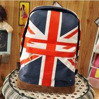 Wholesale Canvas Shoulder Bag Men Uk - UK British Flag Union Jack Style Backpack Shoulder School Bag BackPack Canvas back to school mochilas mujer 2016