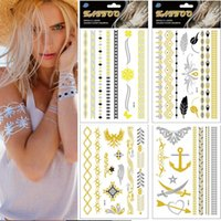 Wholesale Hot New Fashion Design Feather Knife Temporary Tattoo Stickers Flash Fake Jewelry Tattoo