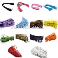 Wholesale Wax Cotton Cord Wholesale - Hot Sale 80m lot Wholesale 1.5mm Waxed Cotton Necklace Rope Cord shambhala Cord free Shipping 1.5mm AA