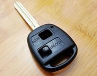 toyota anahtar fob kabuğu değiştirme toptan satış-YEPYENİ Yedek Shell Uzaktan Anahtar Kutu Fob TOYOTA Prado Kesilmemiş Cam Kesim Için Camry Corolla TOY43 BLADE 2 Düğme