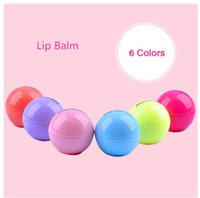 organic natural lip gloss - New Brand Makeup Natural Plant Sphere Lip Pomade Fruit Lip Balm Lipstick Organic Lip Ball Makeup Lipstick Gloss