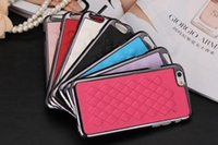 Alumínio Alloy Metal PC Sheep Skin Leather Back Cover Caso Shell Cell Phone Cases Para iPhone 6 6 plus