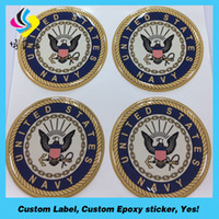 Wholesale Sticker Domed - Hot Sale Manufacturing Custom Made Crystal Domed Clear Epoxy Sticker