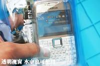 medidor de poste al por mayor-Bolsa de buceo de natación a prueba de agua de verano Bolsa subacuática 10 metros 6 colores Funda de PVC para iPhone Samsung Singapur post