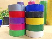 Wholesale Waterproof Repair Tape - Wholesale-20 pcs lot (1pc=15mm x 3m) Duct Gaffa Gaffer Waterproof Self Adhesive Repair Cloth Tape 10 colors choose from 2016