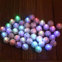 Wholesale cake ball boxes - Lot Round Led Flash Ball Lamps Balloon Lights for Paper Lantern White Or Multicolor Led Wedding Party Decoration Light