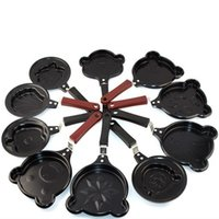 Wholesale Induction Cooker Set - Wholesale-10pcs set Fry Egg Pancakes Kitchen Mini Small Stainless Steel Frying Pan Kitchen Breakfast Tool Suitable Induction Cooker