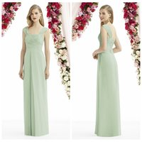 Wholesale Cheap After Six Dresses - 2016 Mint Green Long Bridesmaid Dresses After Six Cheap Modest Fashion Strapless Sleeveless Backless Ruffles Sexy Floor Length Formal Gowns