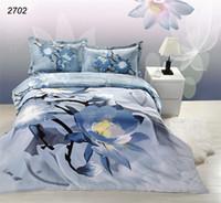 ropa de cama de d establece tyc flor azul ropa de cama doble juego de edredn de la cama romntica cubierta sbana funda de almohada establecer conjunto de