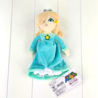 Wholesale Stuffed Princess Toy - Wholesale- 23cm Super Mario Bros Plush Toy Princess Rosalina in Blue Dress Soft Stuffed Doll for Girls
