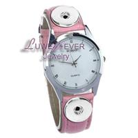 Wholesale charm watches sale - Wholesale- Top Hot Sale 001 Charm Bracelets Bracelet One Direction Retro Watch PU Leather Snap Button Bracelet ( Fit 18mm button)