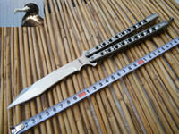 Wholesale Bird Hunting - Deluxe 29CM THE ONE Bird of prey Balisong Butterfly knife whloe stainess steel Handle 440C Irregular edge,Tactical knives
