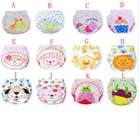 Wholesale Infant Reusable Diapers - Baby Cotton Waterproof Reusable Nappy Diaper Training Pants Cartoon Infant Boys Girls Underwear washable babies wear BJ059