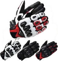 Wholesale Motorcycle Gloves Taichi - 2016 New RS TAICHI 422 Spring leather carbon fiber Moto racing gloves motorcycle riding gloves can touchscreen 4 colors M L XL