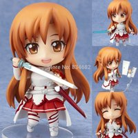 Wholesale Nendoroid Sword Art Online - J.G Chen High Quality Free Shipping Cute Nendoroid Sword Art Online Asuna PVC Action Figure Toys Collectible Toy For Kids Gifts