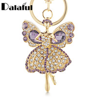 Wholesale angel keychains for sale - beijia Lucky Angel Wings Elves Crystal  Keyrings Key Chains Holder d029e7d332