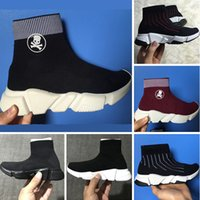 Con Box BLCG Kids Stretch Mesh High Top Sneakers BLCG Speed ​​Knit Mid-Top Calcetines Botines Kids Fashion Botines (