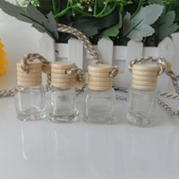 Wholesale Steam Hang - 100pcs Steam car ornaments hanging car perfume bottles , empty bottle pendant car accessories 4ML