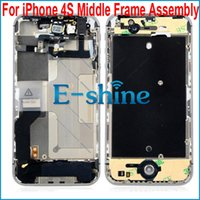 Wholesale Iphone 4s Middle Full Assembly - 4S Middle Frame Housing Faceplate Bezel Chassis Full Assembly For iPhone4s iPhone 4s 4GS Free Shipping