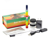 Wholesale plastic kit boxes - Bob marley box kit dry herbal vaporizer vape pens wax Dry herb atomizer fit for ego-t battery