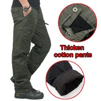 Wholesale Sport Cargo Pants For Men - Winter Double Layer Men's Cargo Pants Warm Outdoor Sports Baggy Pants Cotton Trousers For Men Male Military Camouflage Tactical
