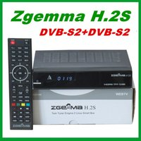 Wholesale Receiver Twin Tuner - 2pcs Original ZGEMMA H.2S Dual Core Twin Tuner DVB-S2 + DVB-S2 IPTV Satellite Receiver support TF Card free shipping