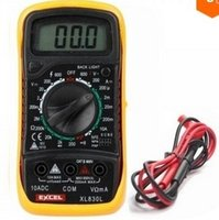 Wholesale Lcd Volt Ammeter - Free Shipping 2015 New Digital LCD Multimeter Voltmeter Ammeter Ohmmeter OHM VOLT Tester XL-830L