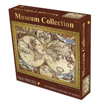 Wholesale World Map High Quality - Wholesale-Old Master Jigsaw Puzzles 1000 Pieces High Quality Paper 70*50cm Famous Paintings Museum Collection Map of the World