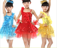 Wholesale Baby Ballet - HOT stage wear costumes for girls performance flower dance costume in babies' ballet latin dance dress ballet latin dance skirt kids