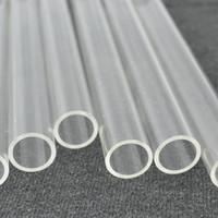 Wholesale Acrylic Clear Tube - Supply Acrylic Plexiglass Clear Tube Home Building Decor Supplies Plastic PMMA Small Hard Pipe 100pcs lot OD12x1x1000mm Length