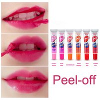 Compra Bellezza Della Pianta-Peel-off Lip Gloss Rossetto ha una durata di 24 ore rossetto Balm Lip Gloss impianto Orso Romantico trucco idratante Bellezza Colorful Make Up Maschera Lip