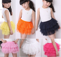 Vente Hot Girls Tutu Jupe en dentelle Robes Layered danse Jupes enfants pouf rara Tulle Jupes