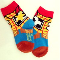 Wholesale Mixed Cartoon Slippers - Wholesale-(12 pairs   lots ) Girls Toy Story Cartoon Socks Mix Design Women Cotton Warms Sport Sock Slippers
