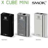 Wholesale Dhl X Mini - 100% Original Smok Xcube mini 75w TC mod Temperature Control VV VW vs Smoktech Xpro M80 M65 X cube II 2 plus box Mod e cigs vapor mods DHL