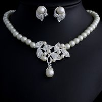 Wholesale Twinset Jewelry - Wholesale-Fashion pearl jewelry set, Fashion jewellery settings, Pendant&earrings(twinset),Free necklace Vintage Jewelry