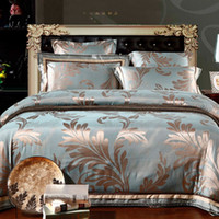 funda nórdica floral de algodón al por mayor-MFH Mordern juegos de cama de lujo diseñador de ropa de cama de encaje edredón cubre ropa de cama sábanas de algodón king size Navidad calidad 4pcs.