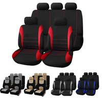 Wholesale Cotton Auto Seat Covers - Car Seat Covers Universal Car Seat Cover 9 Set Full Seat Covers for Crossovers Sedans Auto Interior Accessories Full Cover Set for Car Care