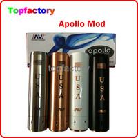 Wholesale Apollo Cigarette - Apollo Mod Clone E Cigarette Mods 18650 Apollo Machanical Mods 22MM diameter Apollo Mechanical Mod Competition AV Ameravape 510 Thread Free