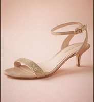 2015 chaussures de mariage strass Or 2