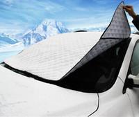 Wholesale Sun Shade Cover Windows - Fashion Hot Car Window Sunshade Car Snow Covers For SUV Ordinary Car Sun Shade Reflective Foil Car Windshield Snow Blocked