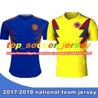 248c9d101 TOP QUALITY 2018 World Cup Colombia home yellow soccer jersey 17 18 away  blue FALCAO JAMES CUADRADO TEO BACCA football shirts ...