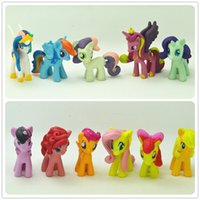 Wholesale Pops Dolls - 12 Pcs Lot 3-5cm My Cute Lovely Little Horse Mlp Action Figures Poni Doll Toys For Children Funko Pop Toys TOY151