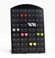 Wholesale 36 Pairs Earring Stand - 2016 New 36 Pair Hole Jewelry Holder Makeup Make Up Organizer Stand for Earring Holder Earrings Display Stand ~D109