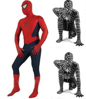 Wholesale Cosplay Body Red - Hot Sale High Quality Mens adult Childrens Halloween Spiderman costume Lycra zentai SuperHero Theme Costume cosplay Full Body Suit