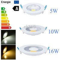 Wholesale Wholesale Ceiling Decor - 110V 220V 5W 10W 15W LED COB Ceiling Down Spot Light Recessed LED Panel Lamp downblight LED Bulb No Dimmable Ho decor light White Warm White