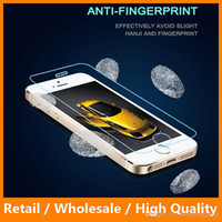 Wholesale Iphone5c Clear - Newest Premium 2.5D Tempered Glass Screen Protector for iPhone5c 9H Clear Mobile Phone Accessories DHL Free Shipping