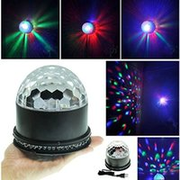 Mini LED Color Changes RGB Sound Activated Lamp 15W 2 in 1 Вращающийся Magic RGB Stage Lighting Effect Ball DJ Disco Party Light