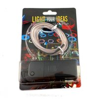 Wholesale Neon Kit Lights - 3M Flexible Neon Light Glow EL Wire Rope Strip Kit + Battery Box Driver Colorful Blister Card
