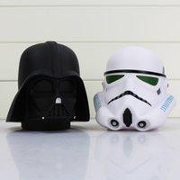 Wholesale Bobble Head Darth Vader - Star Wars Darth Vader Stormtrooper helmet Piggy bank Bobble Head PVC Action Figures Toys Model Dolls 14cm Great Gift