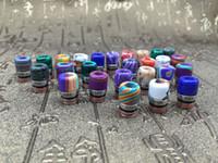 mini bout large d'égouttement achat en gros de-Mini Jade Stone Drip tip Résine Metal 510 Drip Tips Résine Drip Tip en résine avec numéro unique pour RDA RBA Wide Bore Embouchure